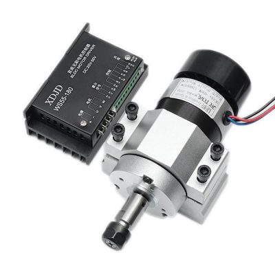 0.4kW ER11 Chuck CNC Spindle Motor with Driver Speed Controller and Clamp (12000rpm) - DIY-Geek