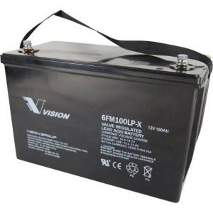 Deep Cycle 12V Fully Sealed AGM Battery (Vision) - DIY-Geek
