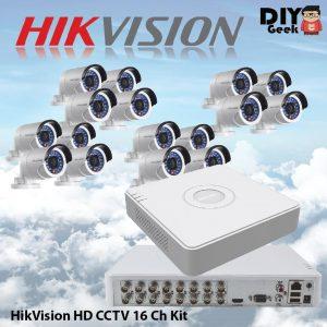 HIKVISION HD CCTV 16 Ch Kit - DIY-Geek