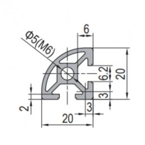 20 x R 90 Aluminium Modular Profile - 2 Slots - DIY-Geek