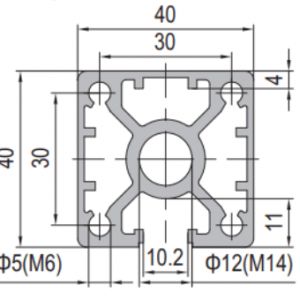 40 x 40 Aluminium Modular Profile - 1 Slot - DIY-Geek