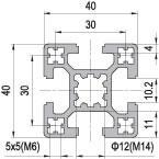 40 x 40 Aluminium Modular Profile - 4 Slots - DIY-Geek