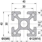 40 x 40 Aluminium Modular Profile - 4 Slots Heavy - DIY-Geek