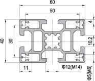 40 x 60 Aluminium Modular Profile - 4 Slots - DIY-Geek
