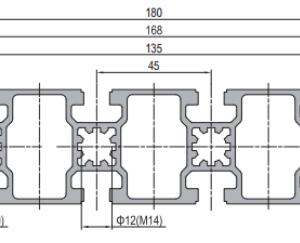 45 x 180 Aluminium Modular Profile - 10 Slots - DIY-Geek