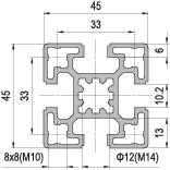 45 x 45 Aluminium Modular Profile - 4 Slots - DIY-Geek