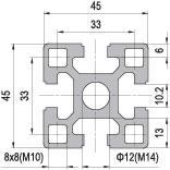 45 x 45 Aluminium Modular Profile - 4 Slots Heavy - DIY-Geek