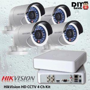 HIKVISION HD CCTV 4 Ch Kit - DIY-Geek