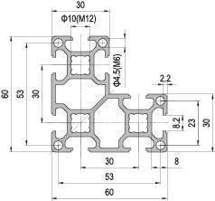 60 x 60 L Aluminium Modular Profile - 8 Slots - DIY-Geek