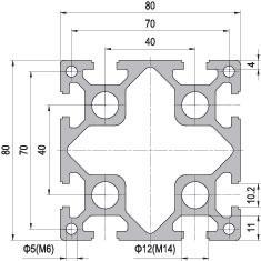 80 x 80 Aluminium Modular Profile - 8 Slots Heavy - DIY-Geek