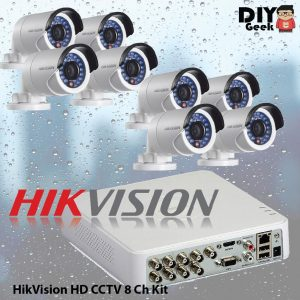 HIKVISION HD CCTV 8 Ch Kit - DIY-Geek