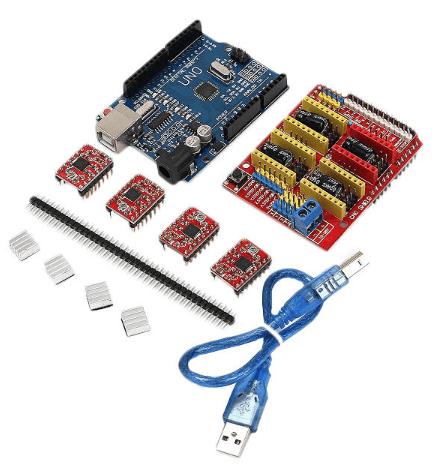 CNC Shield UNO-R3 Board 4 x A4988 Driver Kit - DIY-Geek