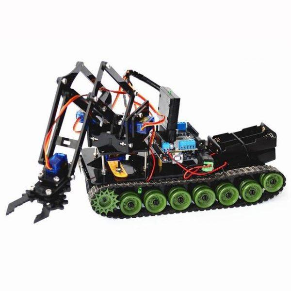 DIY RC Robot Claw Arm with Tracks - DIY-Geek